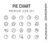 premium pack of pie chart line...