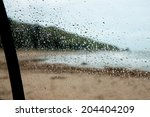 View Out Wet Car Windows On A...