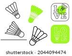 badminton ball icons vector....
