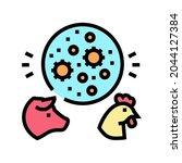flu domestic animal color icon...   Shutterstock .eps vector #2044127384