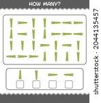 how many cartoon asparagus.... | Shutterstock .eps vector #2044135457