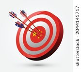hitting three arrow of...   Shutterstock .eps vector #2044145717