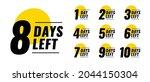 flat days left countdown timer...   Shutterstock .eps vector #2044150304