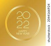 2022 happy new year luxury...   Shutterstock .eps vector #2044166924