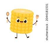 corn vector. corn character...   Shutterstock .eps vector #2044181531