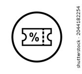 shopping voucher ecommerce icon ...   Shutterstock .eps vector #2044182254