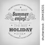 elements for summer holidays  ... | Shutterstock .eps vector #204418231