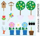 garden collection. vector set   Shutterstock .eps vector #204418705