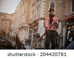 View Of Gondola With Gondolier...