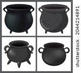 cauldron iconset for halloween. ... | Shutterstock .eps vector #2044214891