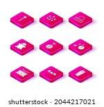 set drum with drum sticks ... | Shutterstock .eps vector #2044217021