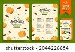 halloween kids menu template... | Shutterstock .eps vector #2044226654