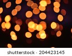 Bokeh Of Candles Light