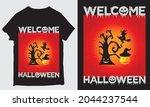 new welcome halloween t shirt... | Shutterstock .eps vector #2044237544