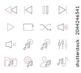 music control icons set. music...