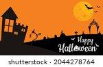happy halloween with pumpkin... | Shutterstock .eps vector #2044278764