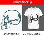 graphic t shirt design skull ... | Shutterstock .eps vector #2044322051