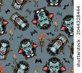 halloween colorful vintage... | Shutterstock .eps vector #2044328444