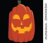 halloween pumpkin icon vector... | Shutterstock .eps vector #2044346564
