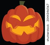 halloween pumpkin icon vector... | Shutterstock .eps vector #2044346567