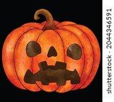 halloween pumpkin icon vector... | Shutterstock .eps vector #2044346591