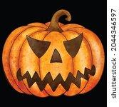 halloween pumpkin icon vector... | Shutterstock .eps vector #2044346597