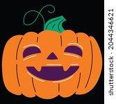 halloween pumpkin icon vector... | Shutterstock .eps vector #2044346621