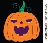 halloween pumpkin icon vector... | Shutterstock .eps vector #2044346627