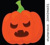 halloween pumpkin icon vector... | Shutterstock .eps vector #2044346651
