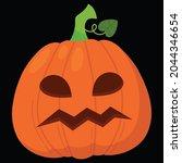 halloween pumpkin icon vector... | Shutterstock .eps vector #2044346654