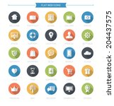 flat web icons set | Shutterstock .eps vector #204437575