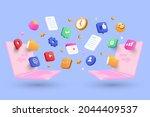 file sharing concept  data... | Shutterstock .eps vector #2044409537