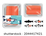 vector rainbow trout packaging... | Shutterstock .eps vector #2044417421