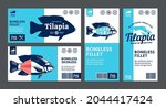 vector tilapia labels and... | Shutterstock .eps vector #2044417424