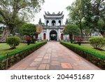 temple of literature in hanoi ... | Shutterstock . vector #204451687