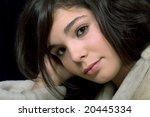 young beautiful brunette... | Shutterstock . vector #20445334