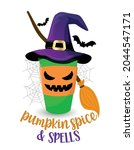 pumpkin spice and spells witch... | Shutterstock .eps vector #2044547171