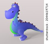 3d Illustration Of A Cute And...