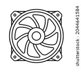 air cooler icon. cooler sign.... | Shutterstock .eps vector #2044641584