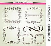 ornament  decorative frames | Shutterstock . vector #204464284