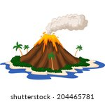 volcanic island   Shutterstock .eps vector #204465781