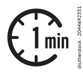 1 minute timer countdown icon...