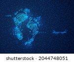 concept of digital footprint ...   Shutterstock .eps vector #2044748051