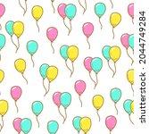 seamless pattern of cute...   Shutterstock .eps vector #2044749284