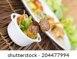 meatballs on ratatouille | Shutterstock . vector #204477994