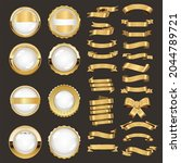 a collection of various gold... | Shutterstock . vector #2044789721