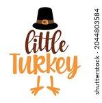 mommy's little turkey   baby... | Shutterstock .eps vector #2044803584