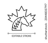 canadian horse linear icon.... | Shutterstock .eps vector #2044833797