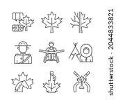 canadian representation linear... | Shutterstock .eps vector #2044833821