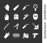 set icons of welding isolated... | Shutterstock .eps vector #204484165